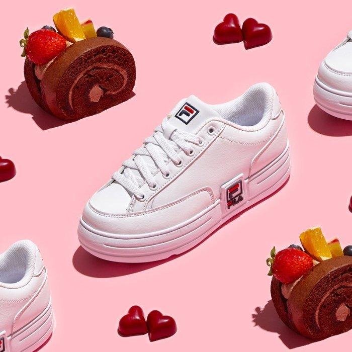 【Luxury】FILA FUNKY TENNIS 1998 厚底 小白鞋 百搭 休閒鞋 1TM00622 韓國代購