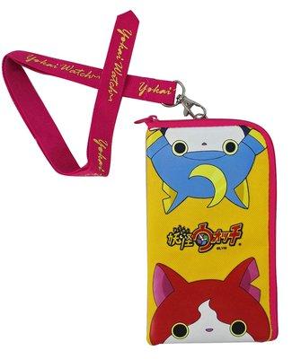【卡漫迷】 妖怪手錶 手機袋 黃  ㊣版 L型 零錢包 MP3袋 票卡包 悠遊卡 i phone 7 Plus 收納袋