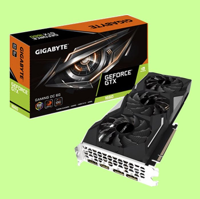 5Cgo【聯強】技嘉 風之力三風扇GeForce GTX 1660 GAMING OC 6G 顯示卡 3年保 含稅