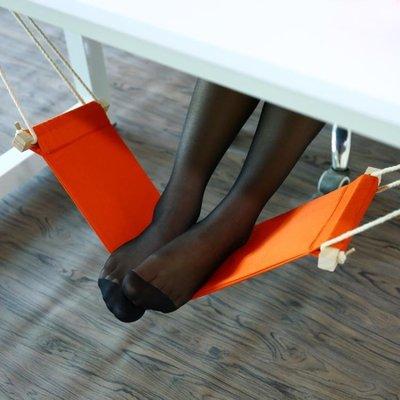 辦公室午休歇腳吊床 翹腳器創意懶人凳子吊椅腳部放鬆桌下小吊床