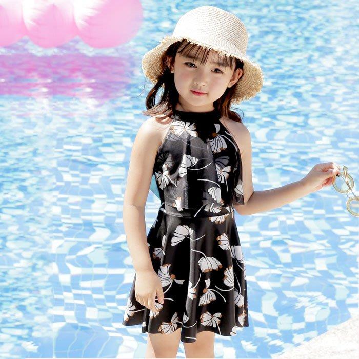 5Cgo【鴿樓】含稅會員有優惠 567499573362 兒童泳衣小中大童韓國連體公主裙式平角褲女童女孩學生遊泳衣泳裙度