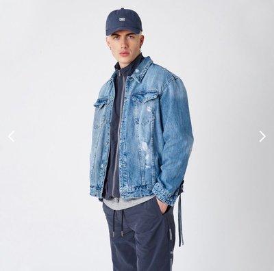 【傑森精品】歐美 街頭 KITH 重磅 水洗 重工 破洞 破壞 刺繡 OVERSIZE 寬鬆 廓形 牛仔外套 夾克