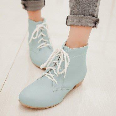 yes99buy加盟-秋冬新款女鞋 素面防滑平跟短筒女靴
