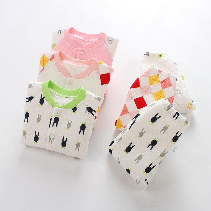 現貨 嬰幼兒夾棉三層保暖套裝多款多色