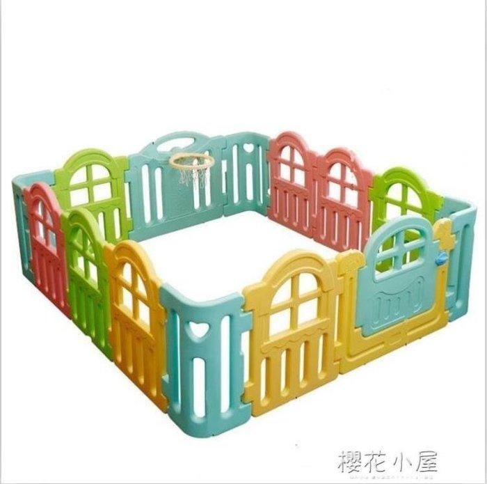 兒童室內游戲圍欄 寶寶安全柵欄家用嬰兒學步護欄爬行墊組合樂園