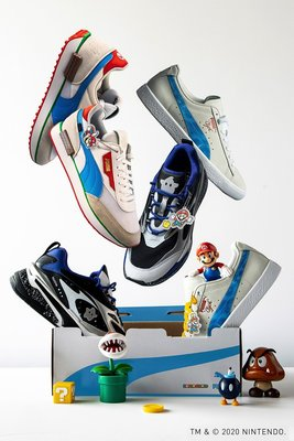 PUMA x Super Mario 超級瑪莉 聯名 多款鞋款 帽T 截圖詢問