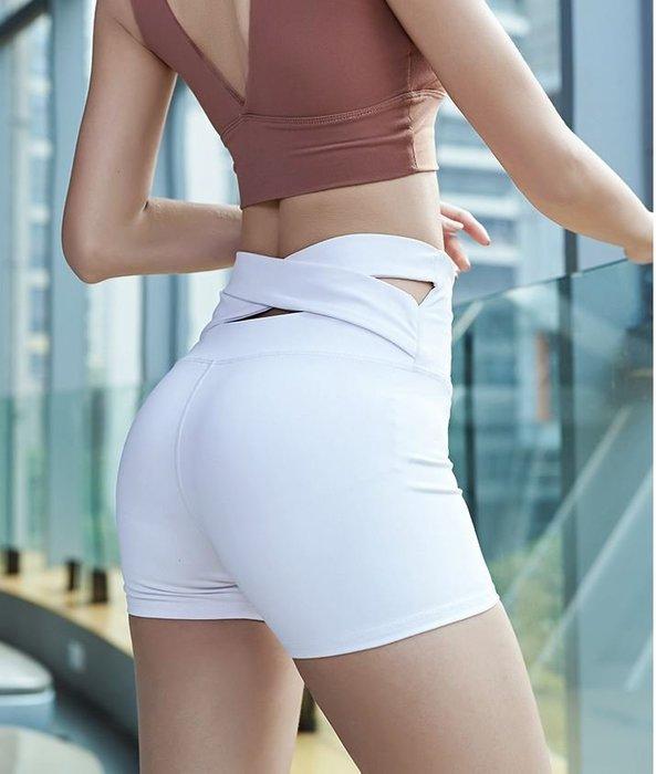 女 壓力緊身褲 5分褲 蜜桃臀 高腰 提臀 後交叉【柔依衣坊-運動館 Zoe Sport Shop】C37-DK658