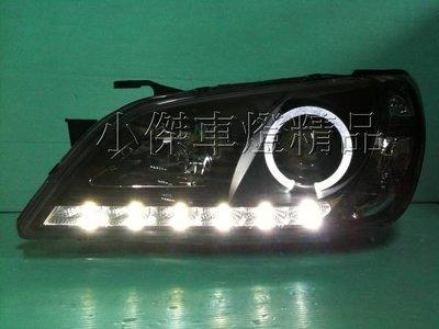 ☆小傑車燈家族☆全新LEXUS IS200 IS300 AXTEZA 黑框光圈DRL類R8大燈原廠hid專用版