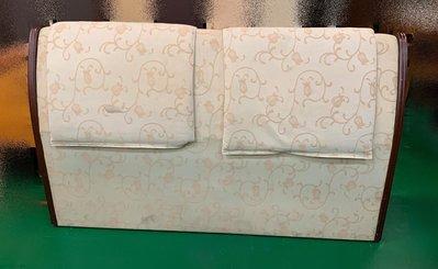 宏品二手傢俱館 台中古董家具家電賣場 B11459*胡桃布面床頭片 床頭板*2手床組 臥室傢具 衣櫃 床墊 化妝鏡檯