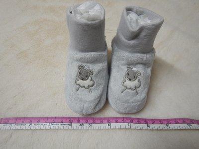 MY 大 BRA 銀灰色 Size 3/6M~10cm~保暖毛毛~活潑羊仔~安全防滑鞋底~襪鞋合一~嬰兒BB學行鞋 $19 (免郵費) 一次購買多件,可享優惠價