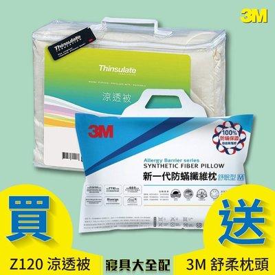 3M Z120 涼透被 雙人標準+1入舒眠枕頭