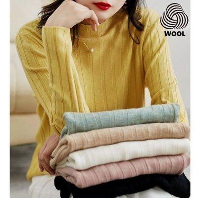 精品款-羊毛羊絨長袖針織衫