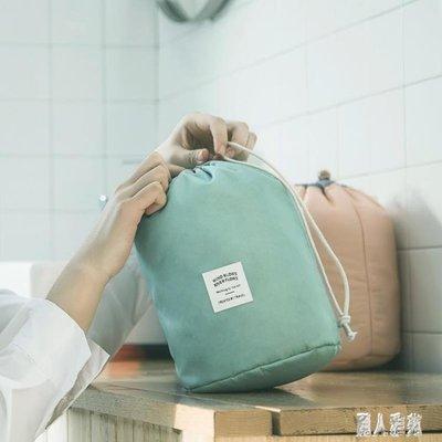 圓筒式大容量旅行洗漱包旅游女士化妝包韓版大容量化妝袋 DJ8219 【樂易閣】