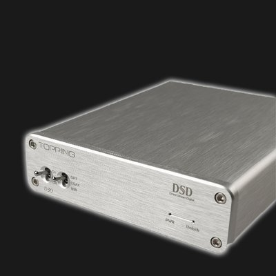 5Cgo【發燒友】拓品 D30 桌面式 HI-FI 解碼器 USB 同軸光纖 DAC DSD XMOS 發燒