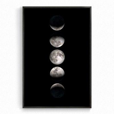 莉迪卡娜~靜謐如迷的月 月相月球月亮宇宙NASA旁白VoiceOver裝飾畫臥室書房