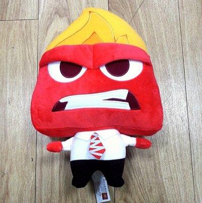 腦筋急轉彎 inside out 怒怒 Anger 站立 30公分絨毛娃娃 玩偶 迪士尼正版授權