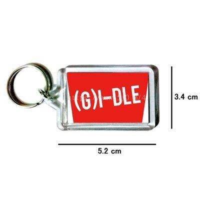 〈可來圖訂做-鑰匙圈〉(G)I-DLE 雙面吊飾 鑰匙圈