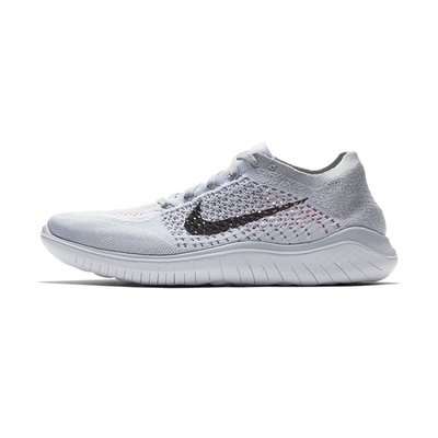 D-BOX  NIKE FREE RN FLYKNIT 2018 透氣 輕便 舒適 跑步鞋 灰白色