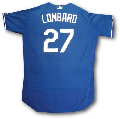 2016 MLB DODGERS #27 LOMBARD GAME ISSUED ST AZ JERSEY SZ 48