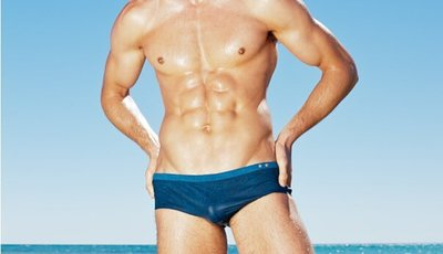 APPLE JUICY【ZS-303】MAN AWARE 最新款牛仔風型男必備衝浪小平角泳褲 L XL 號