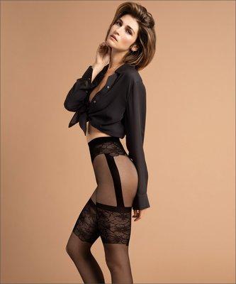 °☆就要襪☆°全新歐洲品牌 Fiore HASTY 仿蕾絲吊帶花紋造型絲襪(15DEN)
