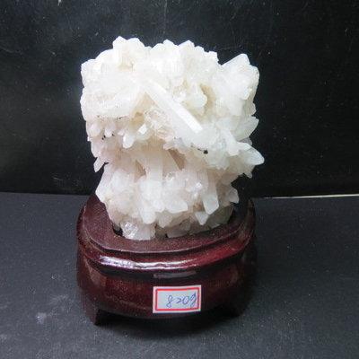 【競標網】頂級漂亮巴西天然3A白水晶簇原礦820公克(贈座)(網路特價品、原價2500元)限量一件