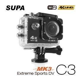 【尖端達人科技館】速霸 C3 三代-MK3 4K/1080P超高解析度 WiFi 極限運動機車防水型行車記錄器