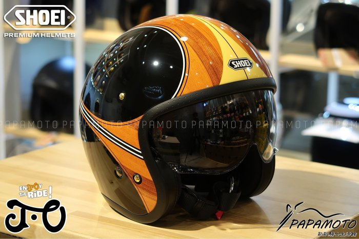 SHOEI JO 安全帽 WAIMEA TC-10 木紋 (CB1100 GOGORO R9T VESPA
