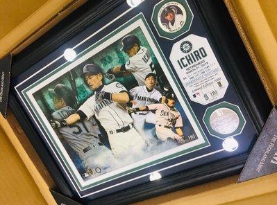 限量❗️ 日本郵便局 MLB 2019 鈴木一朗 ICHIRO 原創 設計 裱框 照片 全球限量1000張 現貨