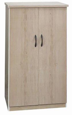 【促銷價】新款!! 塑鋼雙門鞋櫃(附活動格版)(緩衝門片)(集層木),290-08