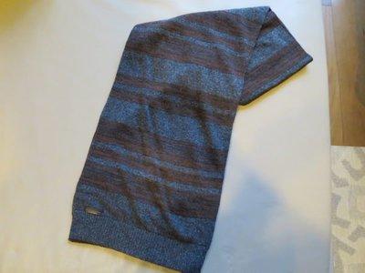 [熊熊之家3] 保證全新正品 D&G 灰色咖啡條紋 圍巾