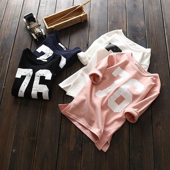 【溜。溜。選物】小童簡約數字印花長袖T恤