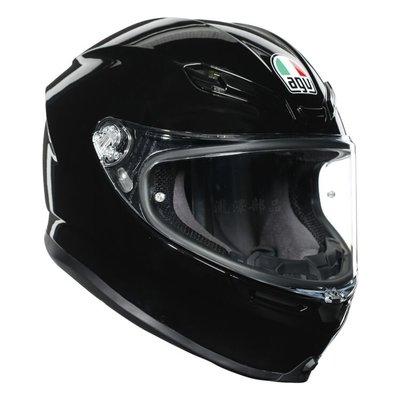 瀧澤部品 義大利 AGV K6 亮黑 全罩安全帽 碳纖複合纖維 素色 K-6 亞洲版 透氣舒適 通勤 機車重機 雙D扣
