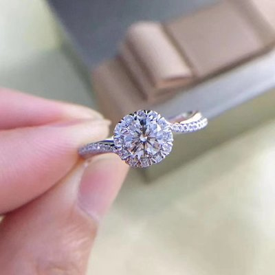顯大款【0.503ct 南非鑽石戒指💍 F-G color, VS淨度, 18K白金鑲嵌】珠寶首飾介指吊墜吊咀