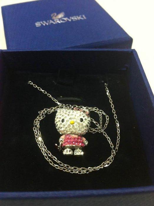 《東京家族》Kitty凱蒂貓 SWAROVSKI施華洛世奇 晶鑽項鍊
