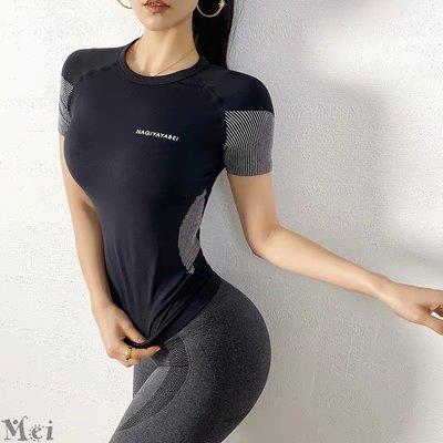 運動T恤  彈力緊身短袖速乾T恤 瑜伽上衣 瑜伽T恤 健身T恤 運動服 健身上衣 健身衣 緊身上衣 運動上衣 短袖上衣