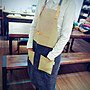 [正妹的店]台灣製日式拼色植楺革真皮圍裙 工作圍裙 手工圍裙 圍裙 文創圍裙 民宿 咖啡廳 美容美髮 餐飲業[免運費]
