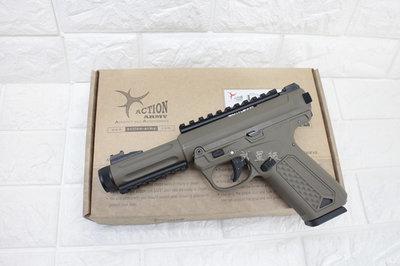 台南 武星級 Action Army AAP-01 瓦斯槍 沙 魚骨版 ( 上下槍身戰術魚骨GBB槍BB槍BB彈玩具槍
