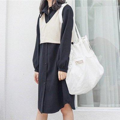 帆布袋 素色 薄款 抽繩 環保購物袋【SPG01】