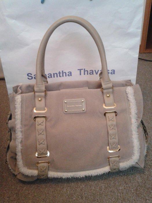 Samantha Thavasa 95172灰色肩背包/手提包(附長揹帶,可斜揹,免運費)