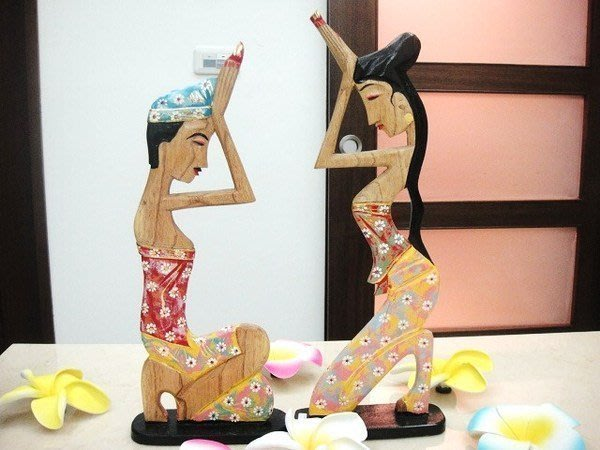 Y【永晴峇里島】巴里島風祈福男女彩繪木雕,增添異國風味,居家,民宿,飯店都好用-擺飾18