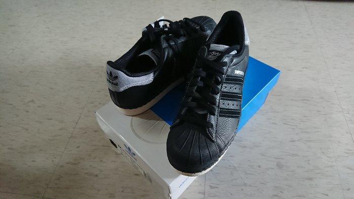 愛迪達 ADIDAS SUPERSTAR 80S VARSITY JACK 黑 灰 鞋 籃球鞋 經典 US10