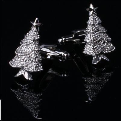 聖誕樹造型袖扣 Z56