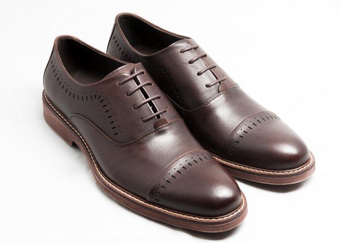 開普托雕花牛津鞋:手工上色小牛皮真皮氣墊皮鞋男鞋-咖啡色-免運費-[LMdH直營線上商店]E1A23-89