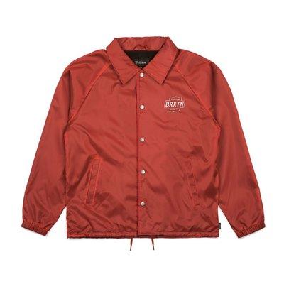 Brixton - GARTH JACKET 磚紅色 教練外套 現貨販售【 LOYALTY 】