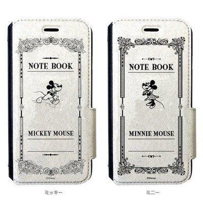 尼德斯Nydus~* 日本正版 迪士尼 米奇 米妮 翻頁皮套 磁扣式 手機殼 4.7吋 iPhone 6 白-共2款