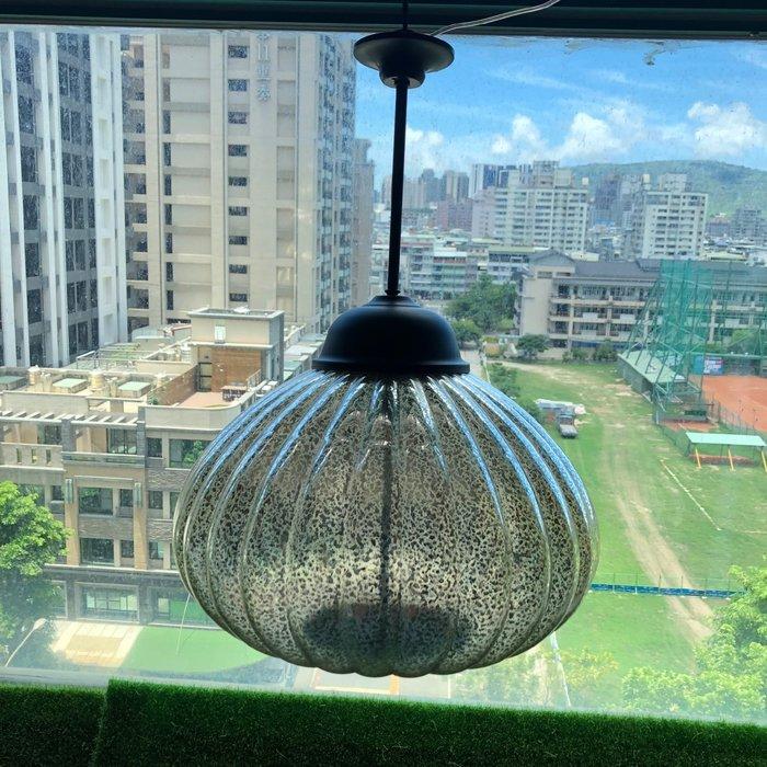 €太陽能百貨€ 太陽能玻璃南瓜吊燈 玻璃吊燈 藝術燈 美術燈 裝飾 太陽能燈 壁燈 高質感玻璃金屬吊燈 B-27