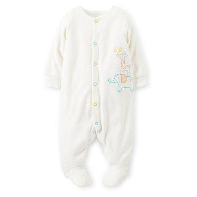 *小豆仔的屋Dou Dou House*美國進口童裝Carter's-新生兒寶寶包腳連身裝-象牙白-(現貨+預購)