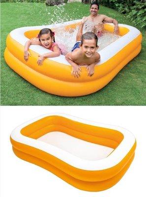 超大游池4-6人使用 美國大品牌 intex 方型 球池游池 230*150*46cm