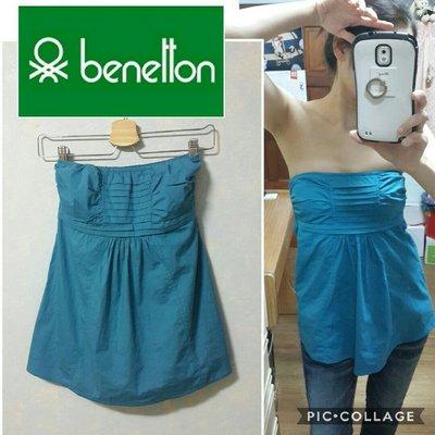 全新-stile benetton 班尼頓 藍色平口 小可愛(#0001000)